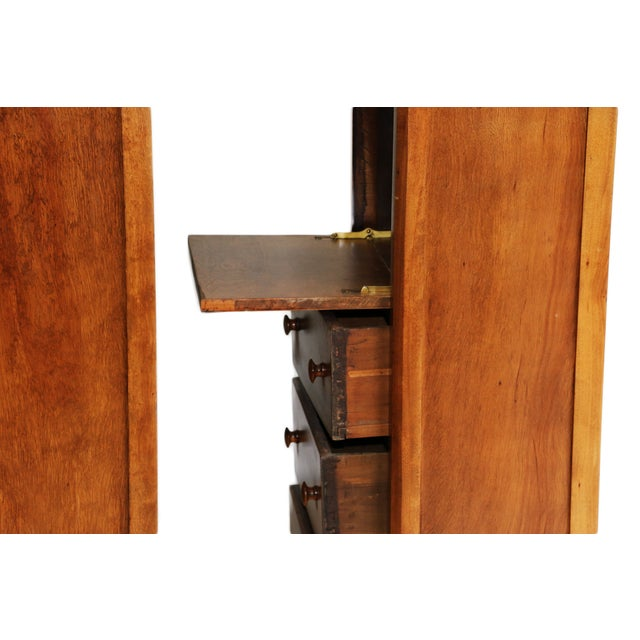 American Fruitwood-Walnut Secretaries - A Pair For Sale - Image 5 of 8
