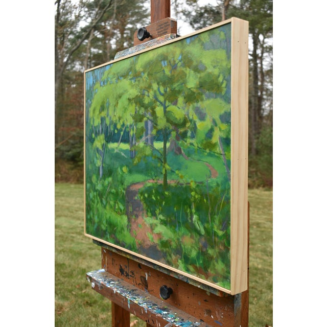 "2010s Stephen Remick ""S-Curve by the Beech Tree"" Landscape Painting For Sale - Image 5 of 11"