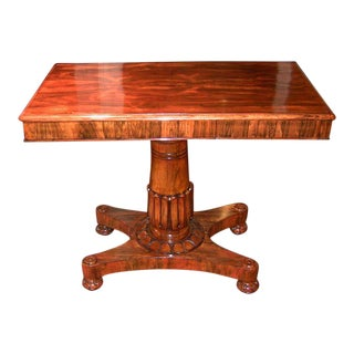 19c British William IV Telescopic Rosewood Side Table For Sale