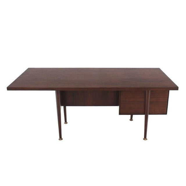 Large Executive Three-Drawer Desk or Writing Table For Sale - Image 4 of 9