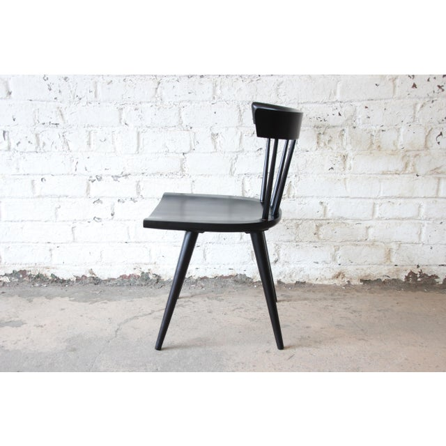 Set of Eight Paul McCobb Ebonized Planner Group Dining Chairs For Sale - Image 11 of 13
