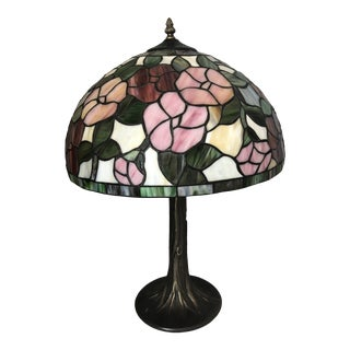 Vintage Stained Glass Lamp For Sale