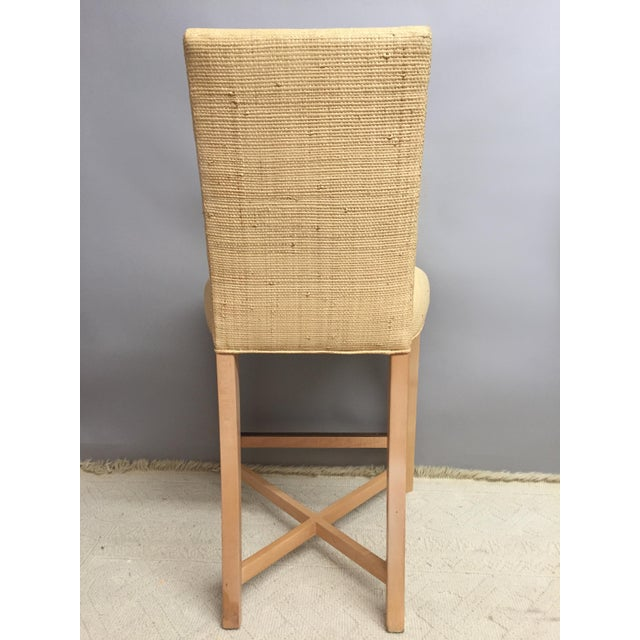 Donghia 1980s Contemporary Donghia Raffia Bar Stools - a Pair For Sale - Image 4 of 7