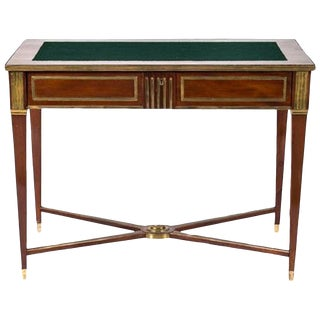 Russian Brass Mounted Mahogany Writing Table or Desk, 19th Century For Sale