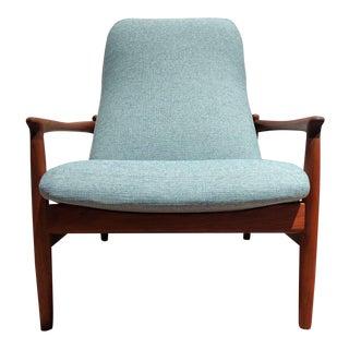 Vintage Teak Mid-Century Lounge Chair by Dux For Sale