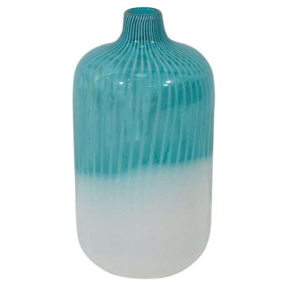 Vintage Murano Bottle Vase For Sale