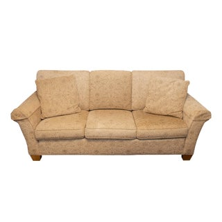 Traditional Stickley Gold Upholstered Sofa