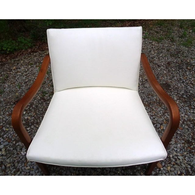 Rare 1960 Barney Flagg for Drexel Parallel Bent Wood Club Chair For Sale - Image 12 of 13