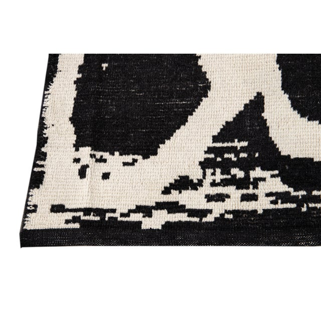 21st Century Modern Moroccan Style Wool Rug For Sale - Image 9 of 13