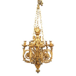 19th Century French Louis XVI Style Chandelier For Sale