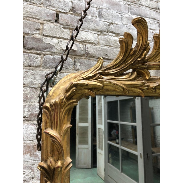 Spectacular French Mirror From the Early 19th Century For Sale - Image 4 of 11