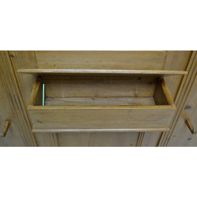 Pine Paneled Hallstand With Mirror For Sale - Image 9 of 9