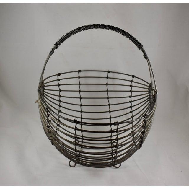 1970s 1970s Karl Howard Galvanized Steel Handmade Art Basket, Signed For Sale - Image 5 of 13