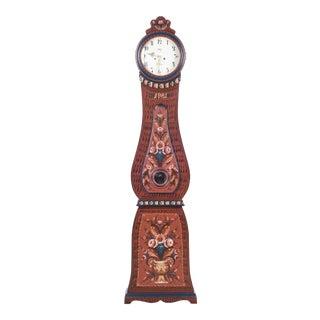 1981 Swedish Mora Wood Clock For Sale