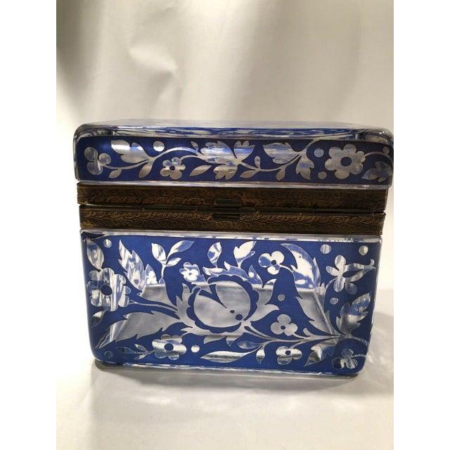 Antique Bohemian Glass Sugar Casket/ Jewelry/Vanity/Trinket Box For Sale In Los Angeles - Image 6 of 13