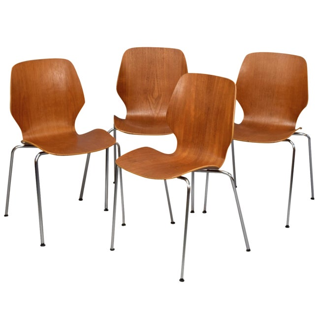 On Hold - Teak 'City Chairs' by Øyvind Iversen - Image 1 of 11