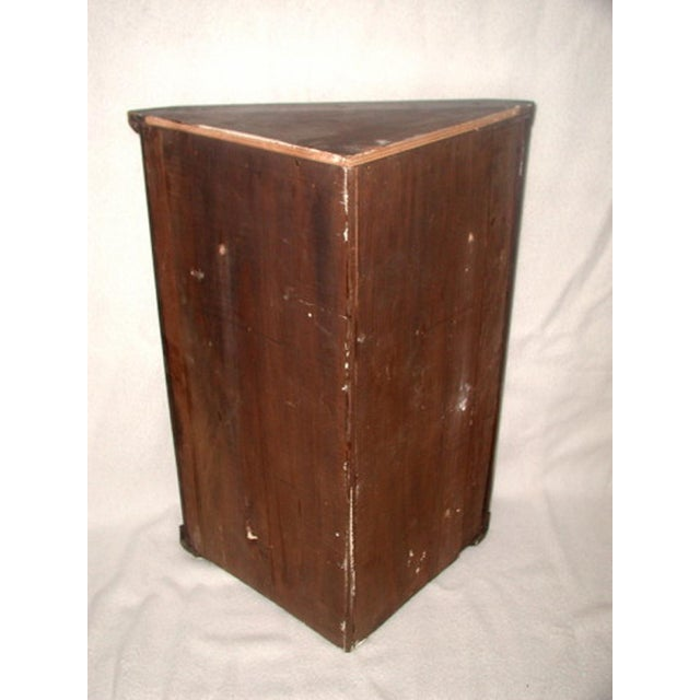 Mid 19th Century Hand Made C.1875 English Corner Mahogany Cabinet For Sale - Image 5 of 7