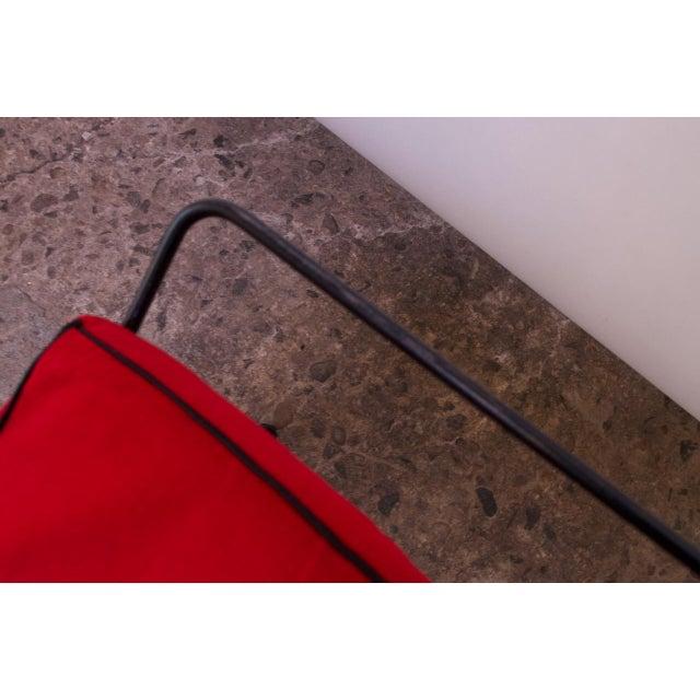 Mid-Century Modern Iron Footstool / Ottoman For Sale - Image 11 of 12