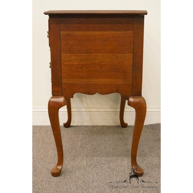 20th Century Traditional Wells Furniture Cherry Blockfront Lowboy Chest For Sale - Image 9 of 13