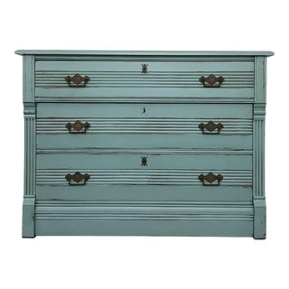 1900s Antique Primitive Farmhouse Chest of Drawers For Sale