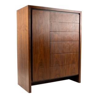 Vintage Mid-Century Milo Baughman for Dillingham Highboy Dresser For Sale