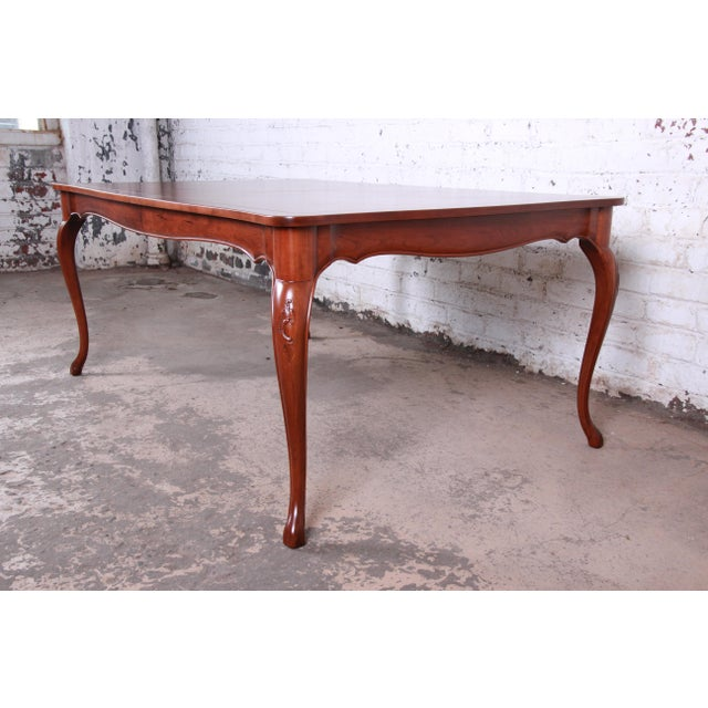 Furniture Cherry Style Table Baker Extension French Dining With Top Provincial Louis Parquet Wood Xv l3FKJcuT1