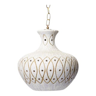 Large Studio Craft Martz Style Ceramic Pendant Light, 1970s For Sale