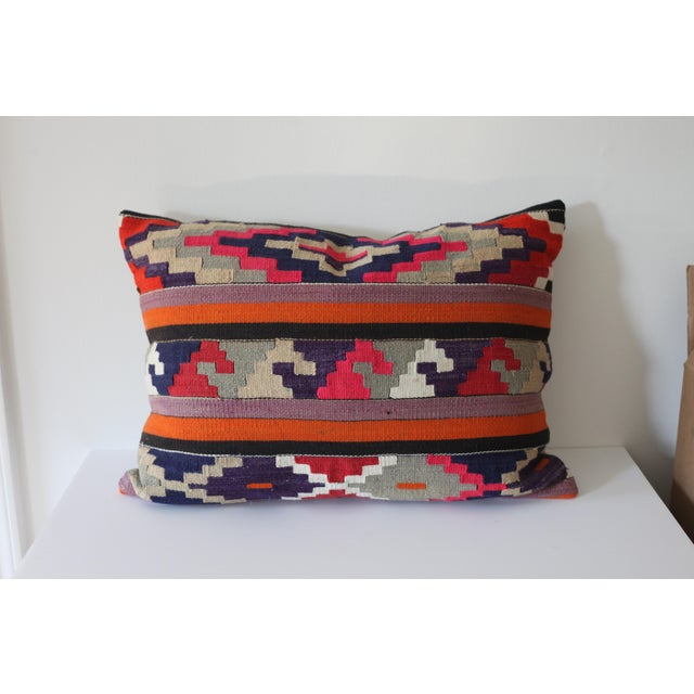 Vintage Boho Turkish Kilim Pillow - Image 2 of 4