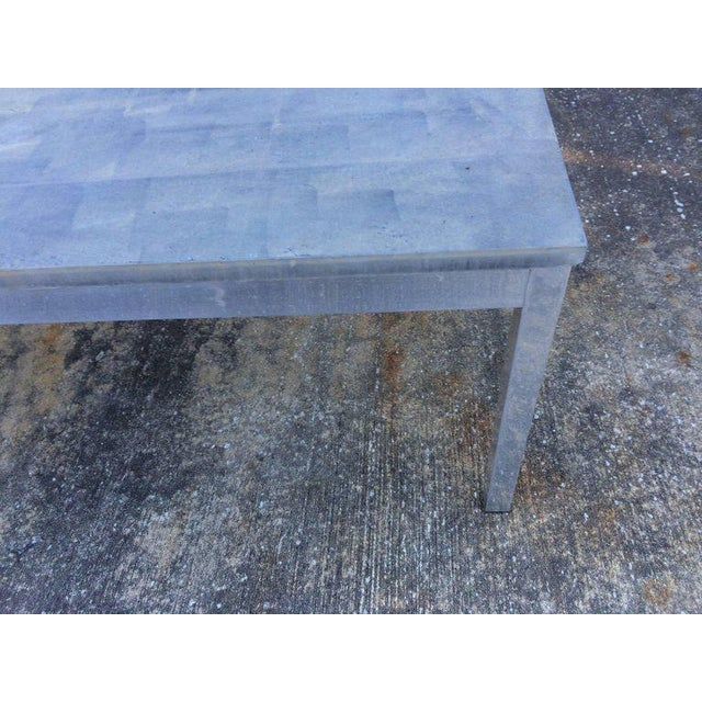 1990s 1990s Minimalistic Slate Coffee Table With Aluminum Base For Sale - Image 5 of 11