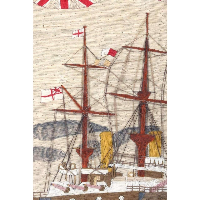Large British Sailor's Woolwork of Fleet, Circa 1890 For Sale - Image 4 of 6