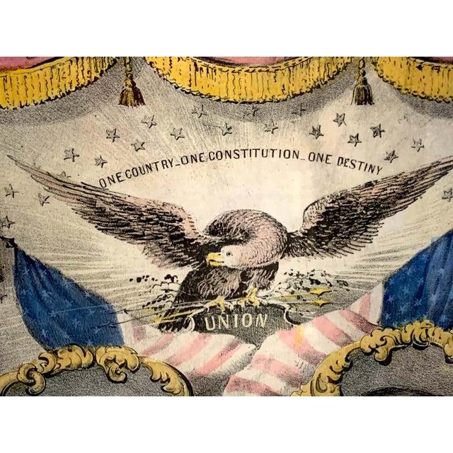19th Century 1856 N. Currier Buchanan & Breckenridge Grand National Democratic Banner For Sale - Image 5 of 11