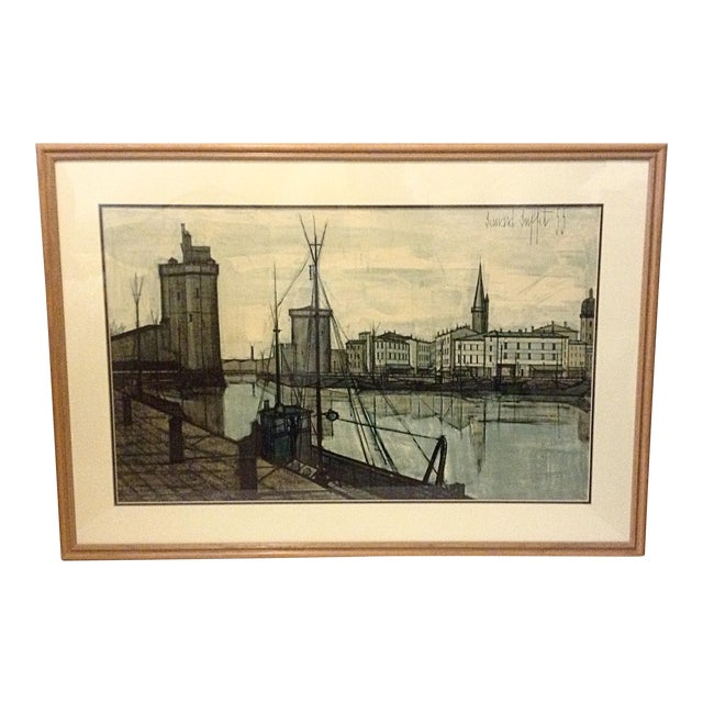 Large 1955 Mid-Century Lithograph by Bernard Buffet For Sale
