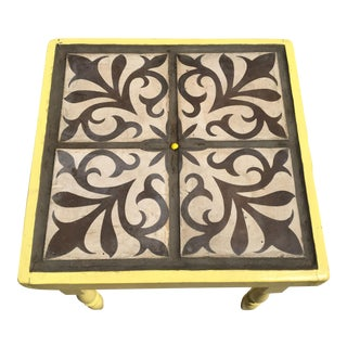 Yellow Cement Tile Motif Table