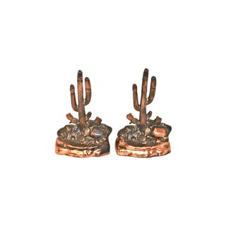 1940s Saguaro Cactus Bookends - A Pair