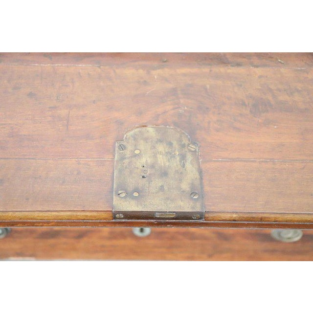 18th Century Italian Louis XVI Inlay Wood Chest of Drawers With Secretaire For Sale - Image 4 of 13