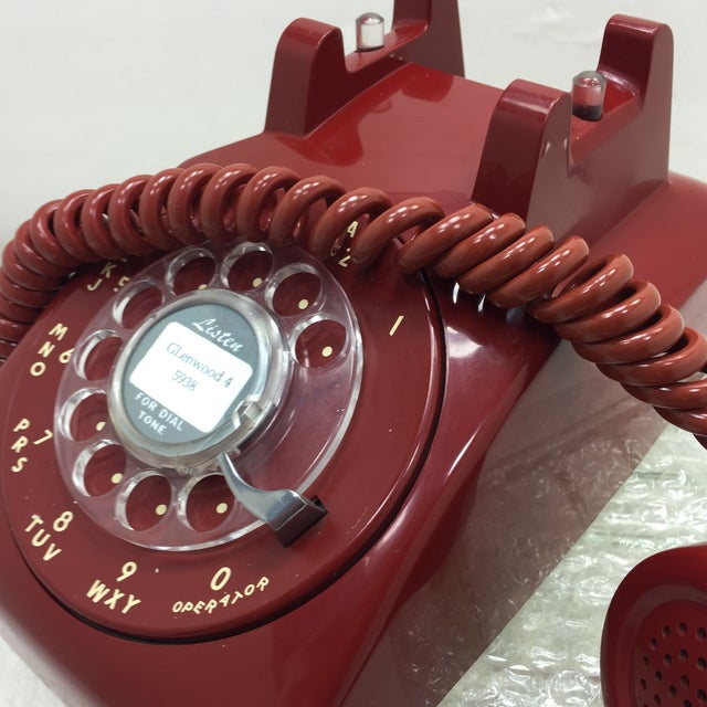Western Electric Red Rotary Dial Telephone - Image 11 of 11