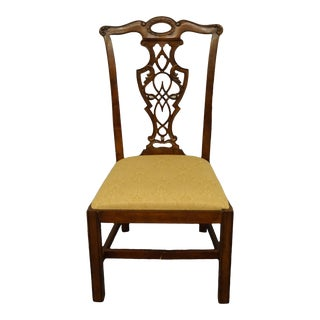 Bassett Furniture Cherry Traditional Chippendale Style Dining Side Chair For Sale