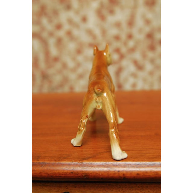 Ceramic Porcelain Boxer Dog Figurine For Sale - Image 7 of 8