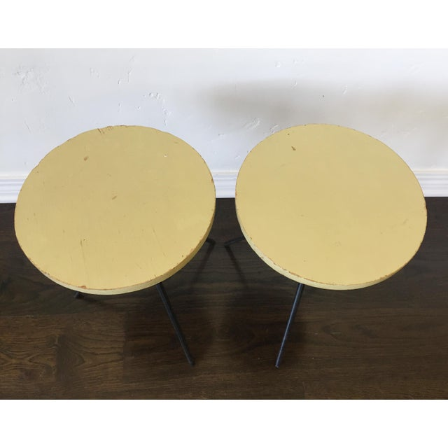 1950s 1950s Modern Norman Cherner Tripod Stools - a Pair For Sale - Image 5 of 7