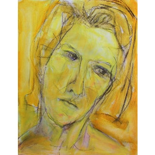 "Small Oil Painting by Trixie Pitts ""Yellow Girl"""
