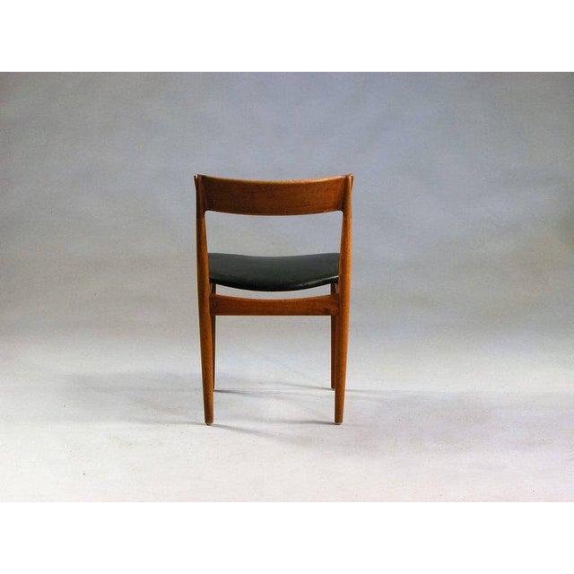1960s 1960s Henry Rosengren Hansen Model 39 Teak & Leather Dining Chairs - Set of 4 For Sale - Image 5 of 9