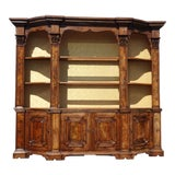 Image of Large Antique 19th Century French Country Burl Wood Hutch China Cabinet ~ Buffet For Sale