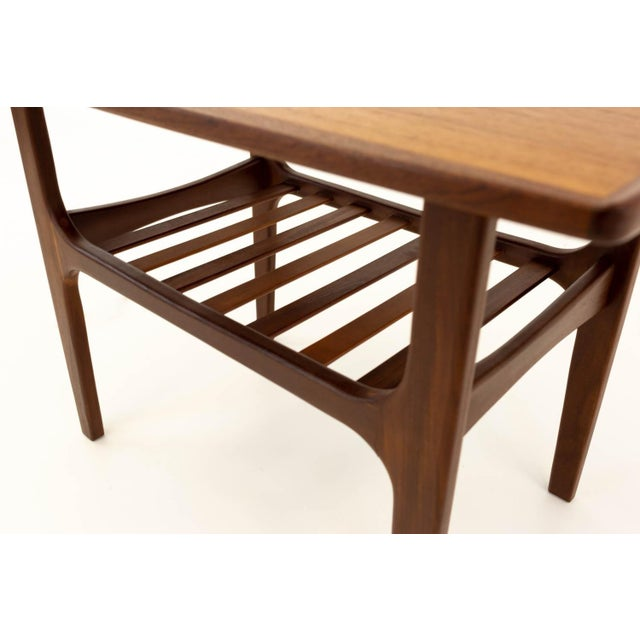 Teak Mid Century Modern Teak Occasional Table For Sale - Image 7 of 10
