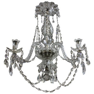 A 19th Century Cut Glass Chandelier By Baccarat
