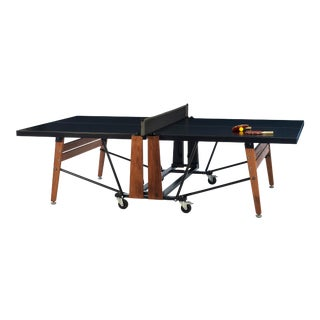 RS Barcelona Folding Ping Pong Table, Black For Sale