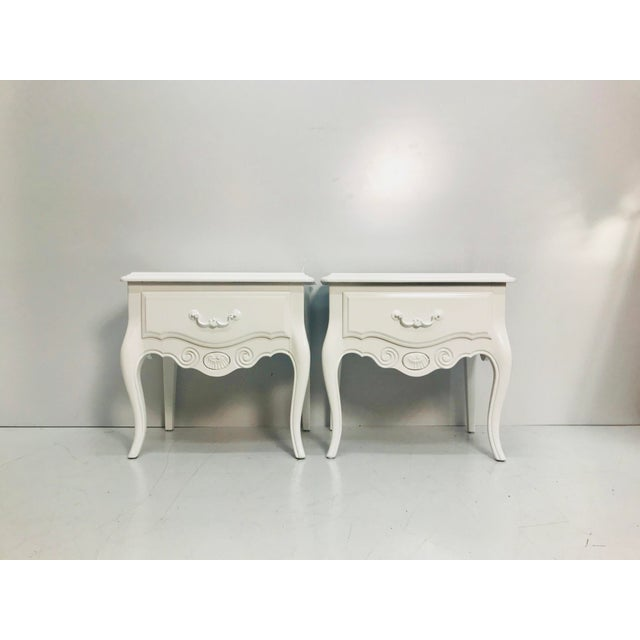 Vintage Ethan Allen French Style Nightstands - a Pair For Sale - Image 10 of 10