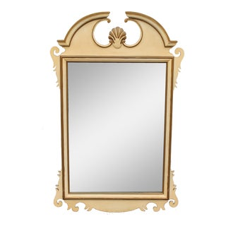 1940's Early American Carved & Patinated Mirror For Sale