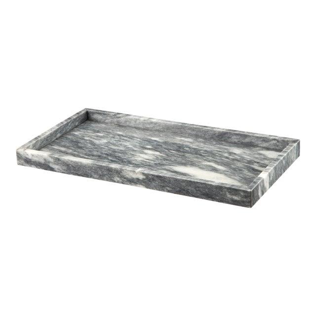 Gray Marble Amenity Tray For Sale