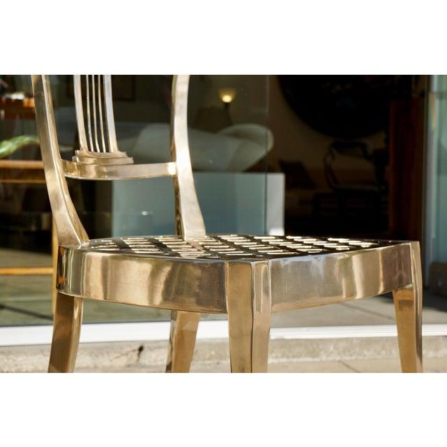 Hollywood Regency Dana John Cast Bronze Chair For Sale - Image 3 of 7
