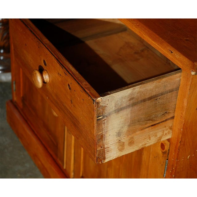 Pine Bookcase Cupboard with Drawers For Sale In Los Angeles - Image 6 of 7